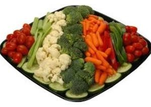 tray of vegetable